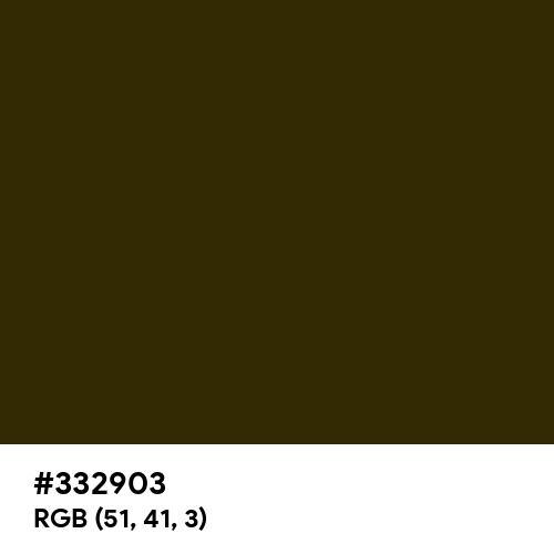 American Bronze (Hex code: 332903) Thumbnail