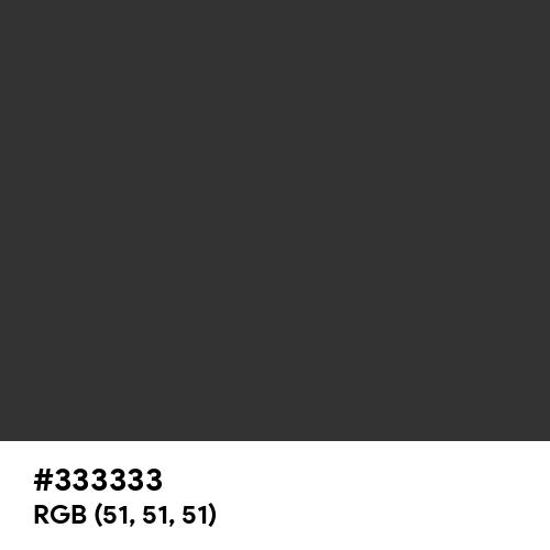 Dark Charcoal (Hex code: 333333) Thumbnail