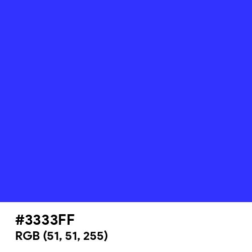 Palatinate Blue (Hex code: 3333FF) Thumbnail