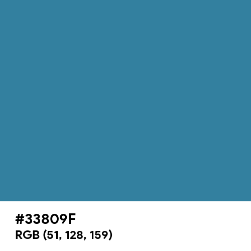 Jelly Bean Blue (Hex code: 33809F) Thumbnail