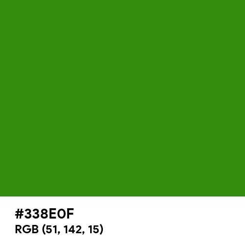 Slimy Green (Hex code: 338E0F) Thumbnail
