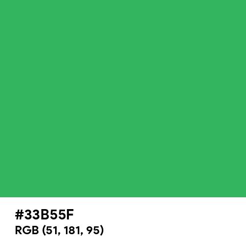 Medium Sea Green (Hex code: 33B55F) Thumbnail