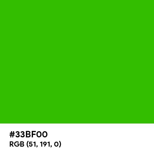 Yellow-Green (Color Wheel) (Hex code: 33BF00) Thumbnail