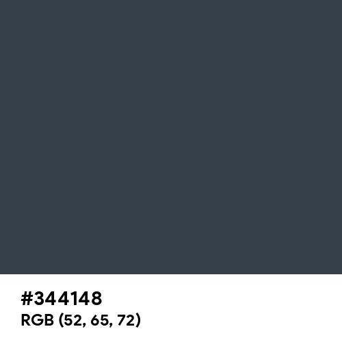 Light Gunmetal (Hex code: 344148) Thumbnail
