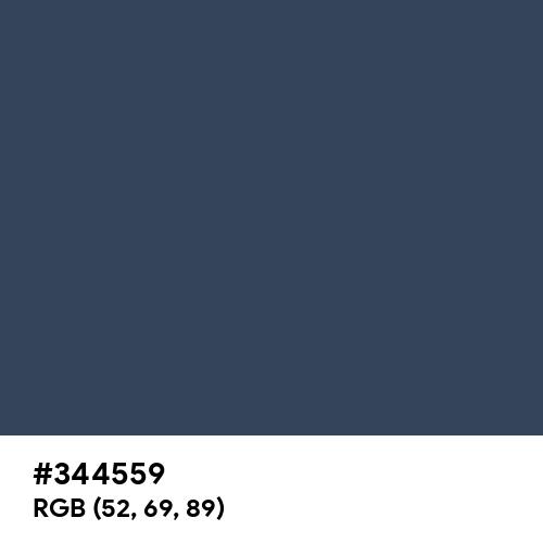 Charcoal (Hex code: 344559) Thumbnail