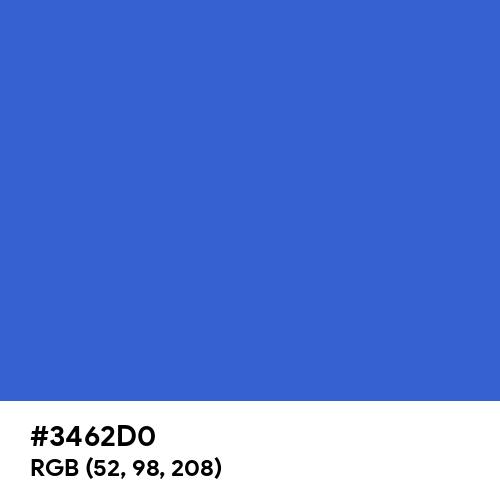 Celtic Blue (Hex code: 3462D0) Thumbnail