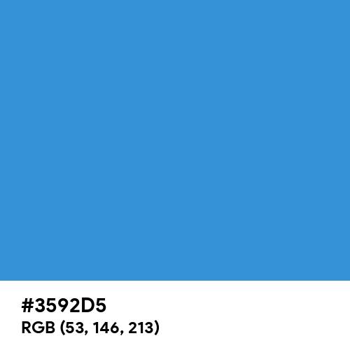 Tufts Blue (Hex code: 3592D5) Thumbnail