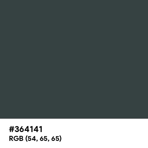 御納戸色 (Onando-iro) (Hex code: 364141) Thumbnail