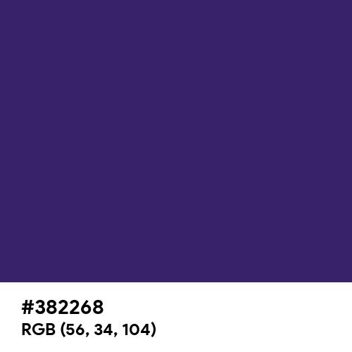 Deep Koamaru (Hex code: 382268) Thumbnail