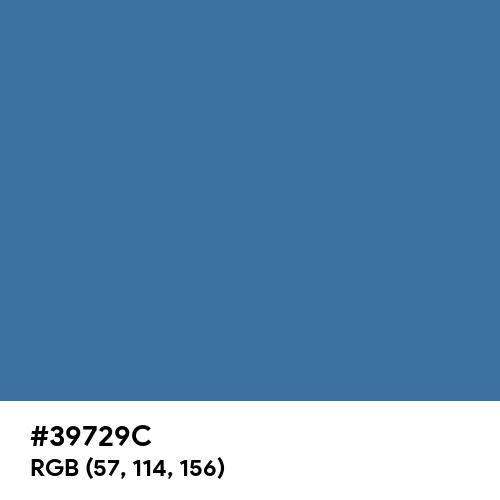 Queen Blue (Hex code: 39729C) Thumbnail