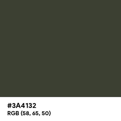 Kombu Green (Hex code: 3A4132) Thumbnail