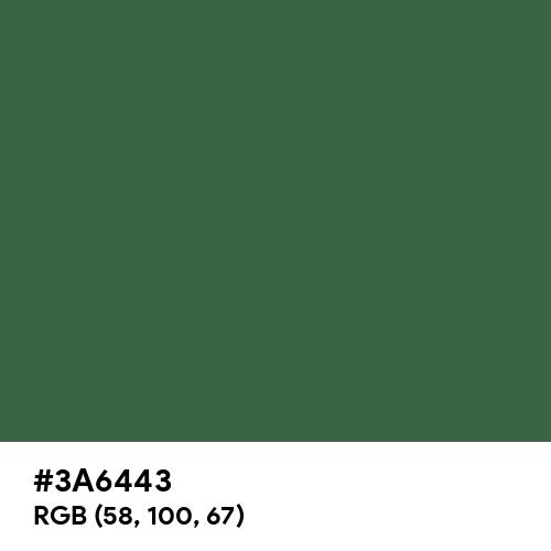 Deep Moss Green (Hex code: 3A6443) Thumbnail