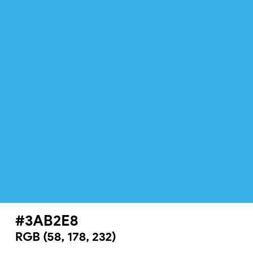 Picton Blue (Hex code: 3AB2E8) Thumbnail