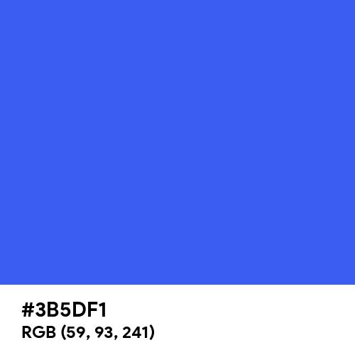 Ultramarine Blue (Hex code: 3B5DF1) Thumbnail
