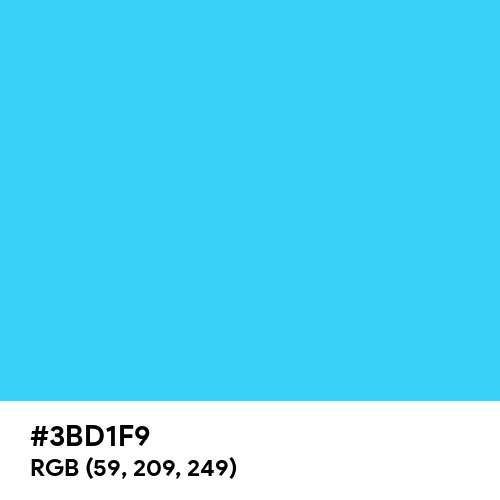 Picton Blue (Hex code: 3BD1F9) Thumbnail