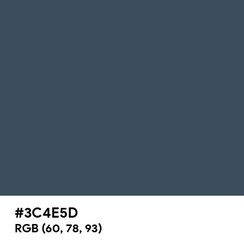 Police Blue (Hex code: 3C4E5D) Thumbnail
