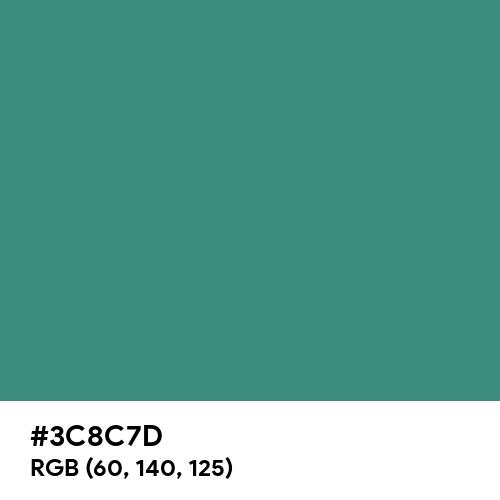 Illuminating Emerald (Hex code: 3C8C7D) Thumbnail