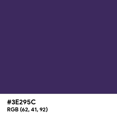 Violet Indigo (Hex code: 3E295C) Thumbnail