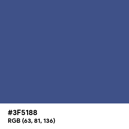 Chinese Blue (Hex code: 3F5188) Thumbnail