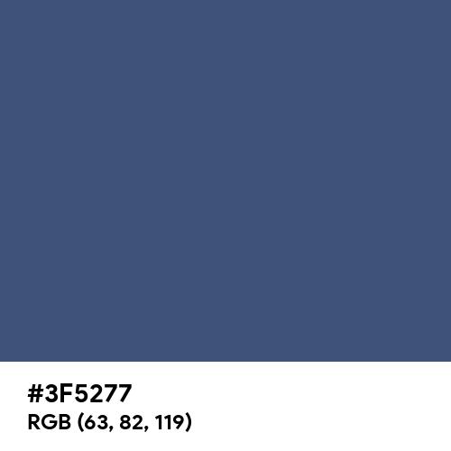 True Navy (Pantone) (Hex code: 3F5277) Thumbnail