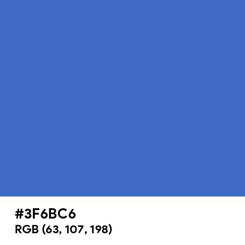 Han Blue (Hex code: 3F6BC6) Thumbnail