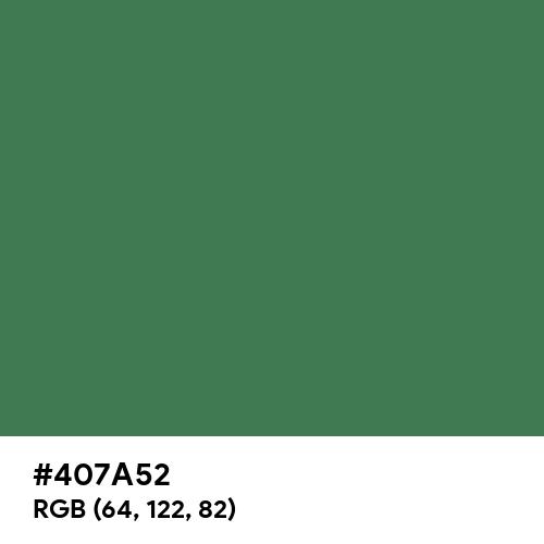 緑青 (Rokushō) (Hex code: 407A52) Thumbnail