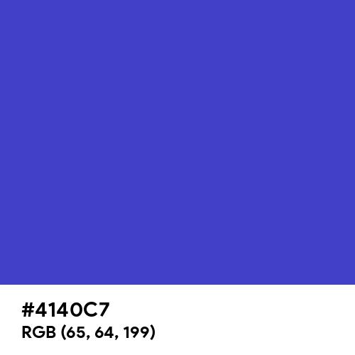 Ocean Blue (Hex code: 4140C7) Thumbnail