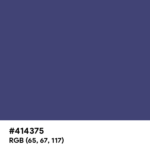 Faded Navy Blue (Hex code: 414375) Thumbnail