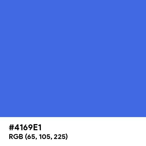 Royal Blue (Hex code: 4169E1) Thumbnail