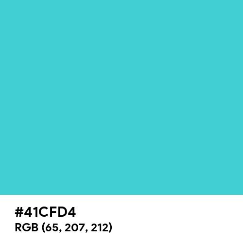 Medium Turquoise (Hex code: 41CFD4) Thumbnail
