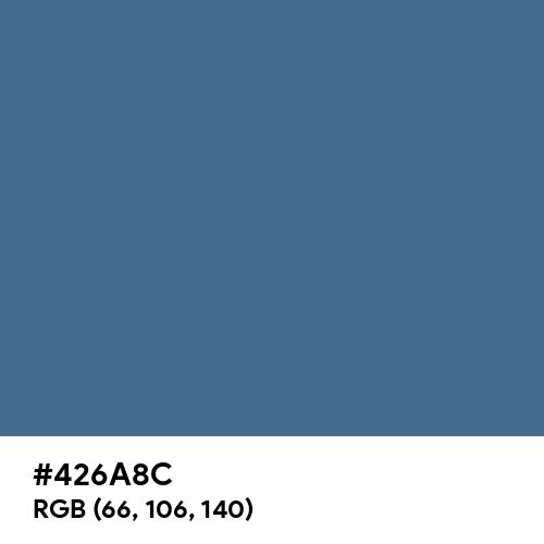 Queen Blue (Hex code: 426A8C) Thumbnail
