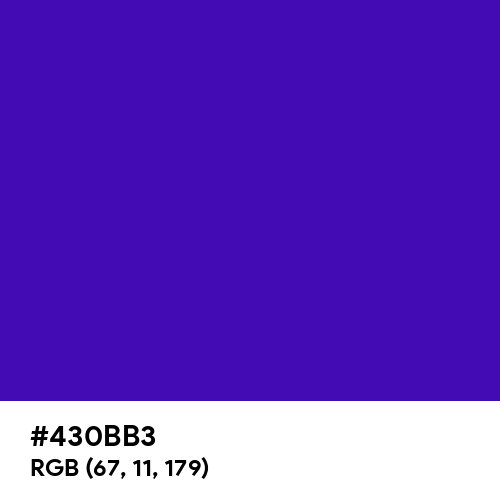 Interdimensional Blue (Hex code: 430BB3) Thumbnail