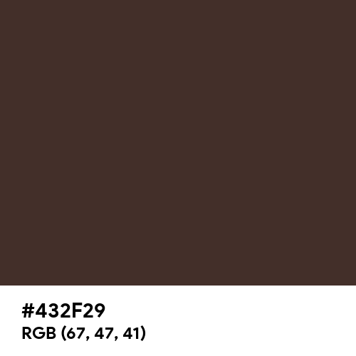 Chocolate Brown (RAL) (Hex code: 432F29) Thumbnail