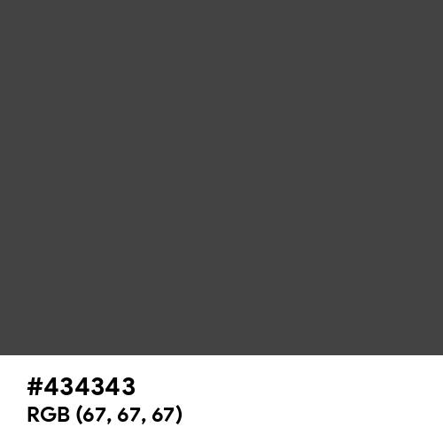 Arsenic (Hex code: 434343) Thumbnail