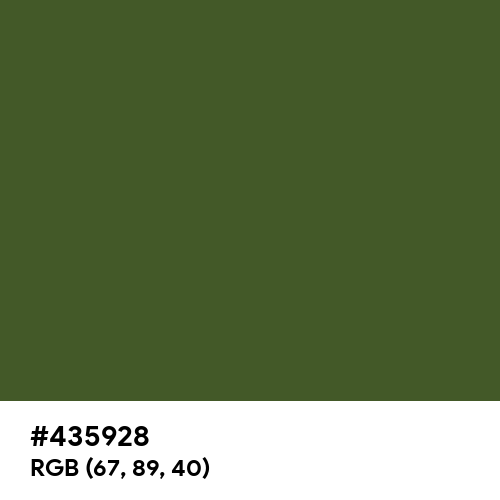 Dark Moss Green (Hex code: 435928) Thumbnail