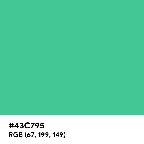 Ocean Green (Hex code: 43C795) Thumbnail