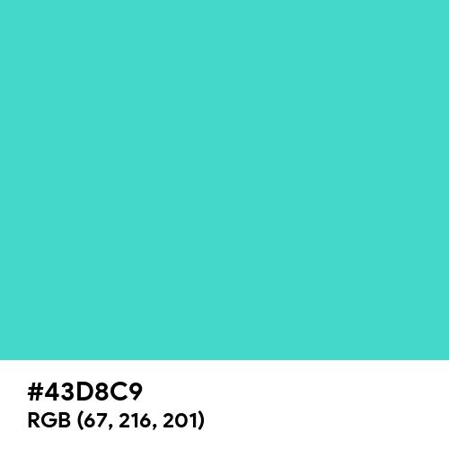 Medium Turquoise (Hex code: 43D8C9) Thumbnail