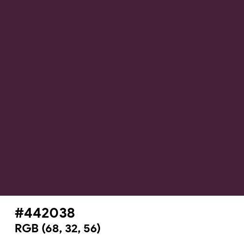 Old Burgundy (Hex code: 442038) Thumbnail