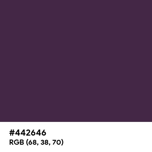 American Purple (Hex code: 442646) Thumbnail