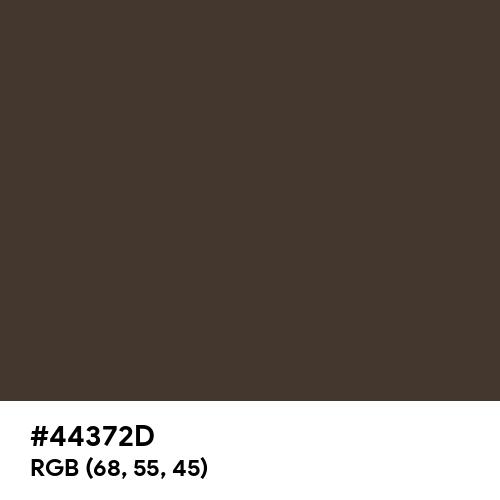 Jacko Bean (Hex code: 44372D) Thumbnail