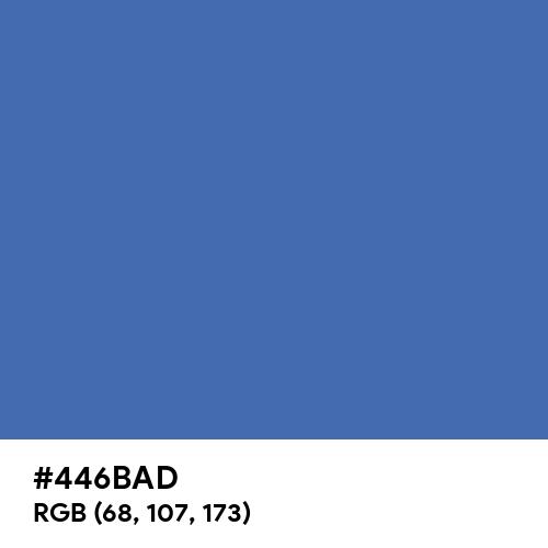 Turkish Blue (Hex code: 446BAD) Thumbnail