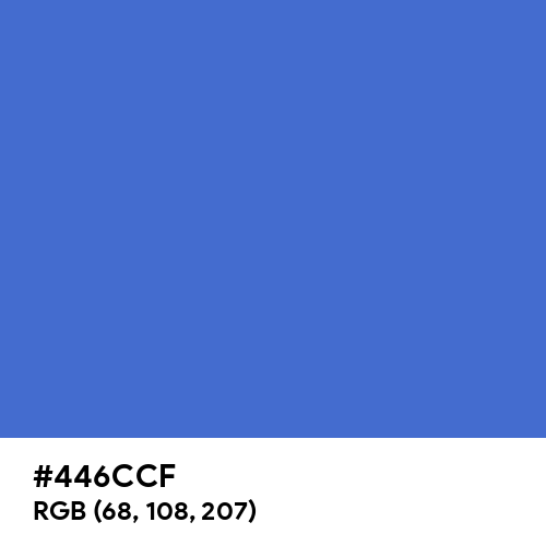 Chinese Blue (Hex code: 446CCF) Thumbnail
