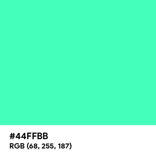 Bright Mint (Hex code: 44FFBB) Thumbnail