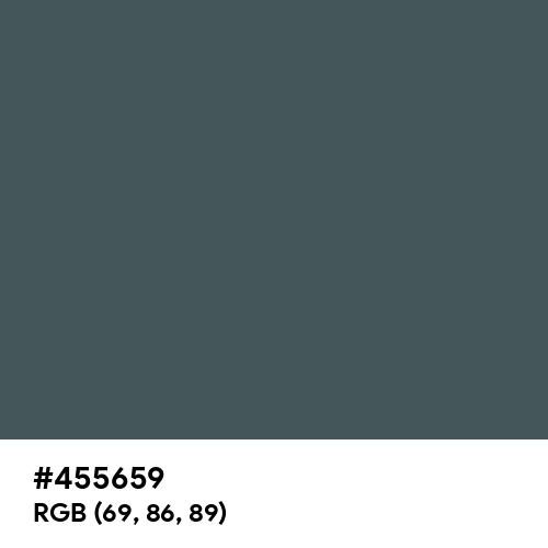 Feldgrau (Hex code: 455659) Thumbnail