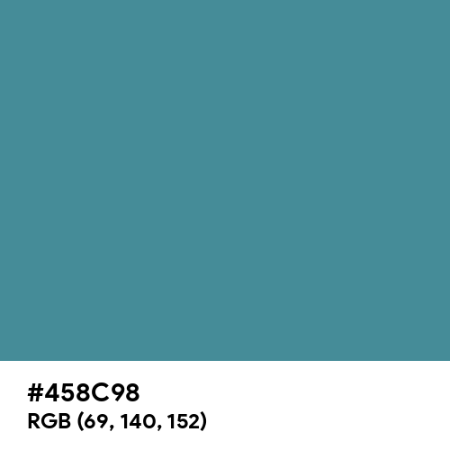 Jelly Bean Blue (Hex code: 458C98) Thumbnail