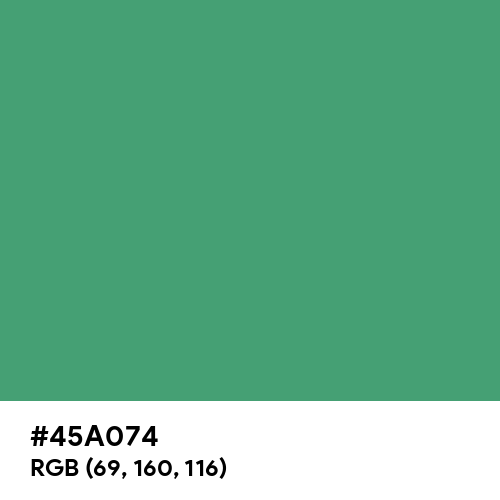 Hunter Green (RAL Design) (Hex code: 45A074) Thumbnail