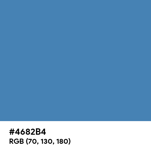 Steel Blue (Hex code: 4682B4) Thumbnail