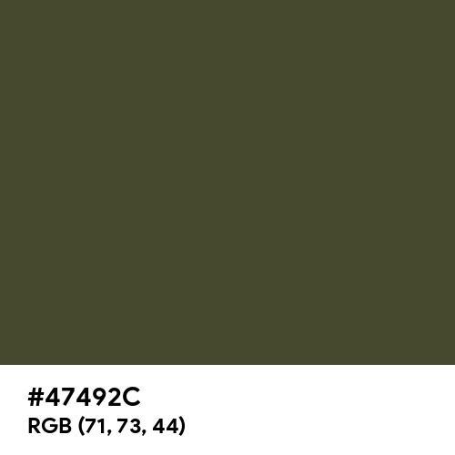 Rifle Green (Hex code: 47492C) Thumbnail