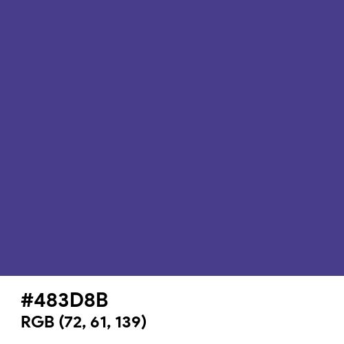 Dark Slate Blue (Hex code: 483D8B) Thumbnail