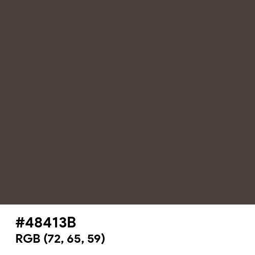 Dark Puce (Hex code: 48413B) Thumbnail